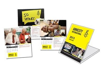 Amnesty Flip Desk Calendar