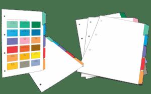 Custom printed tab dividers