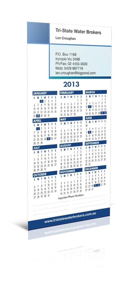 Tri State Magnetic Calendar