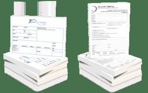 printed note pad