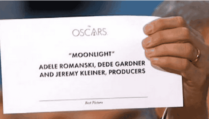 Oscars Stuff Up…poor graphic design to blame
