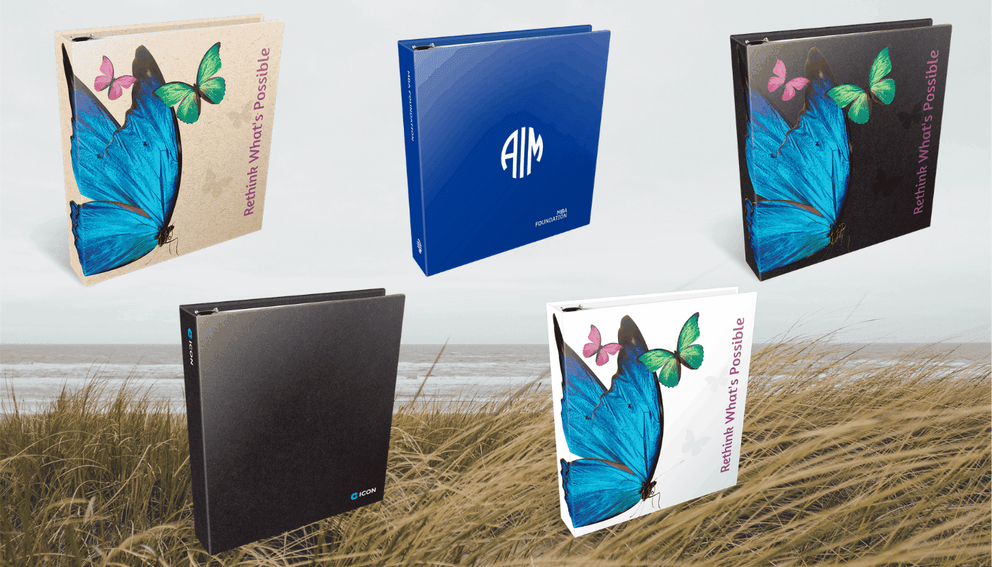 Custom printed ring binders