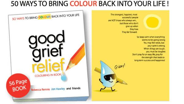 good grief relief, self-publishing, book printing